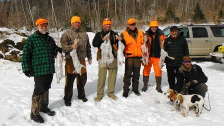 Cabins with Snowshoe Hare & Whitetail Deer Hunting Trips in Maine